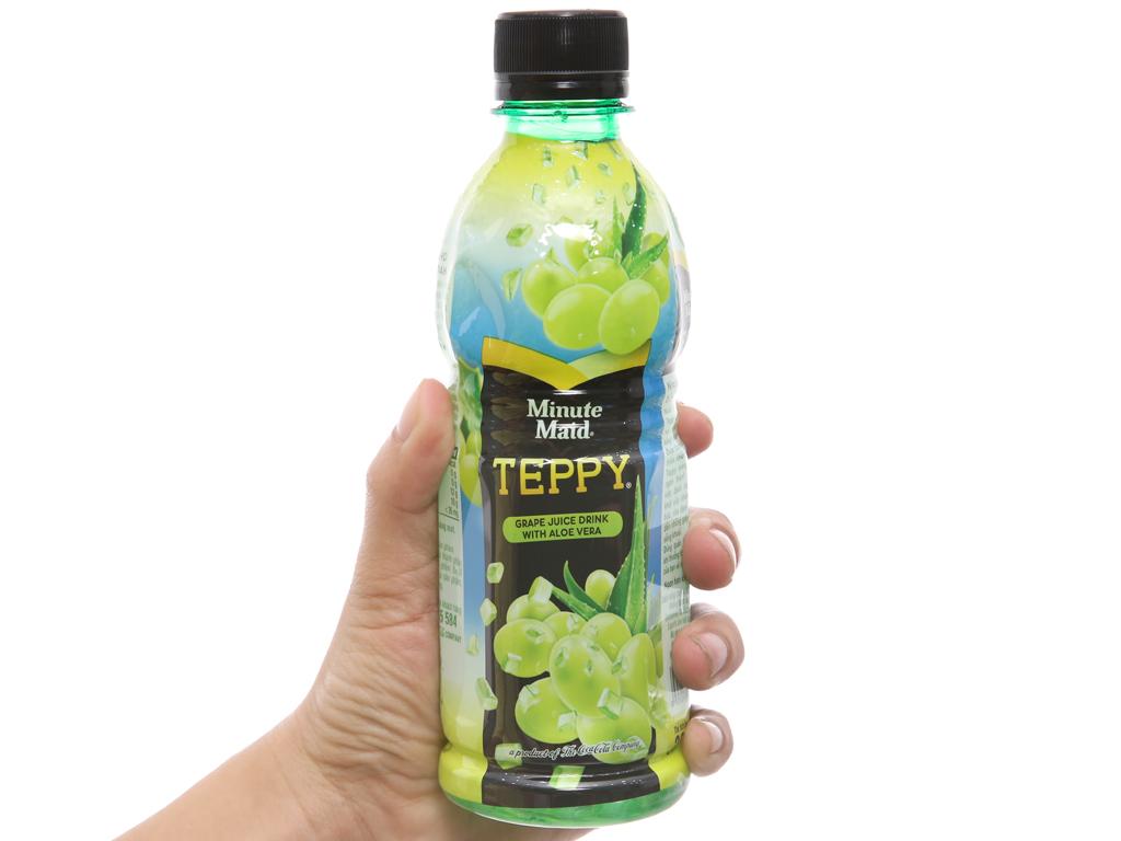 6 chai nước nho & nha đam Teppy 327ml 4