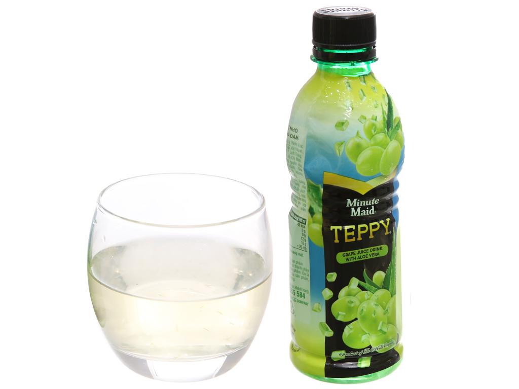 6 chai nước nho & nha đam Teppy 327ml 5