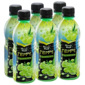 6 chai nước nho & nha đam Teppy 327ml