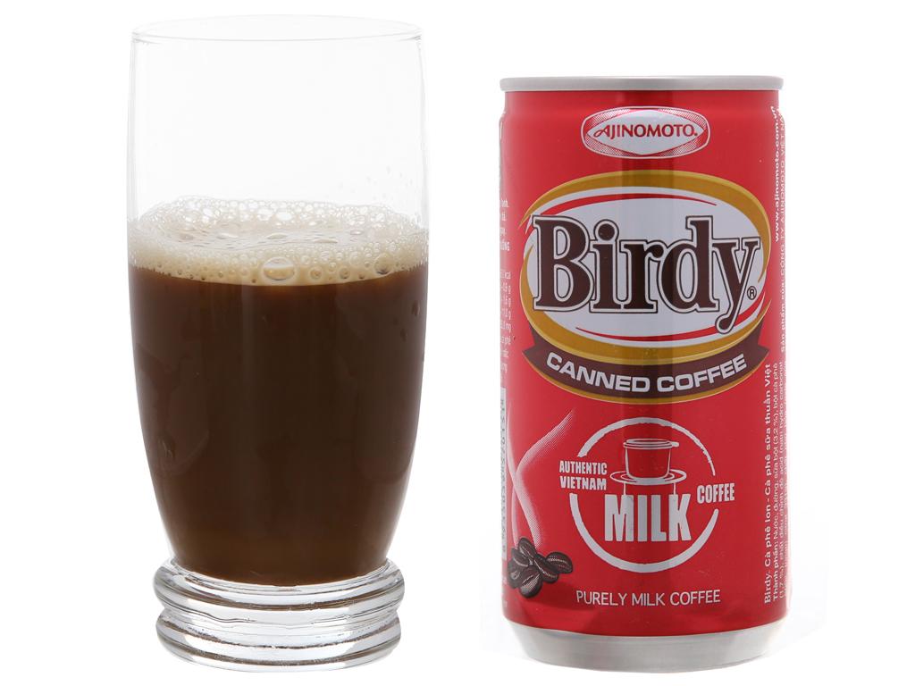 6 lon cà phê sữa Birdy 170ml 5