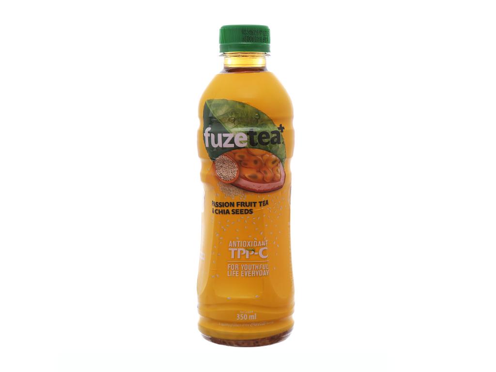 Trà chanh dây và hạt chia Fuze Tea+ 350ml 1