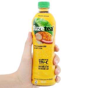 Trà chanh dây và hạt chia Fuze Tea+ 450ml