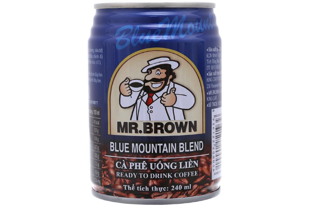 Cà phê đen Mr.Brown Blue Mountain Blend 240ml 2