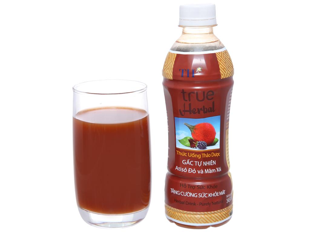 TH True Herbal gấc, atiso đỏ và mâm xôi 345ml 4