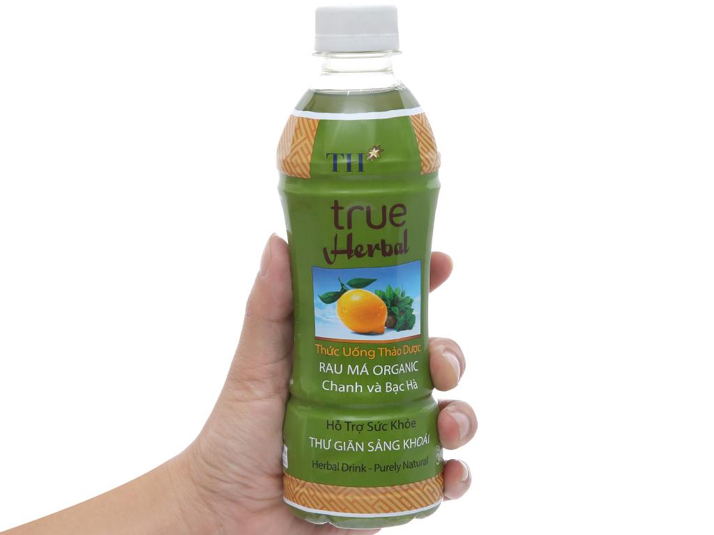TH True Herbal rau má, chanh và bạc hà 345ml 4