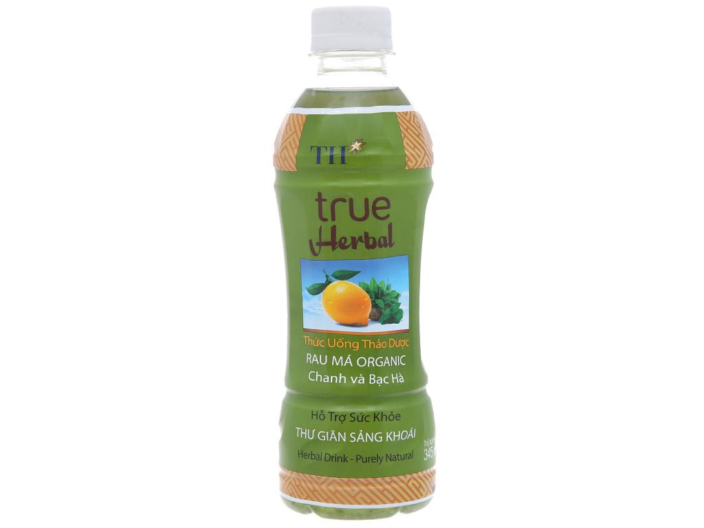 TH True Herbal rau má, chanh và bạc hà 345ml 1