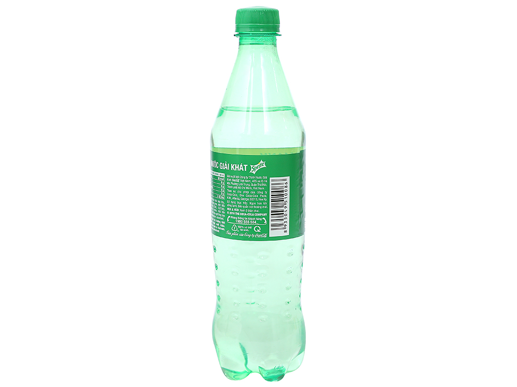 Nước ngọt Sprite hương chanh 600ml 6