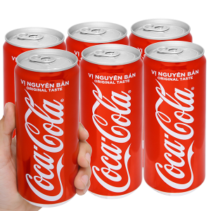 6 lon nước ngọt Coca Cola 330ml
