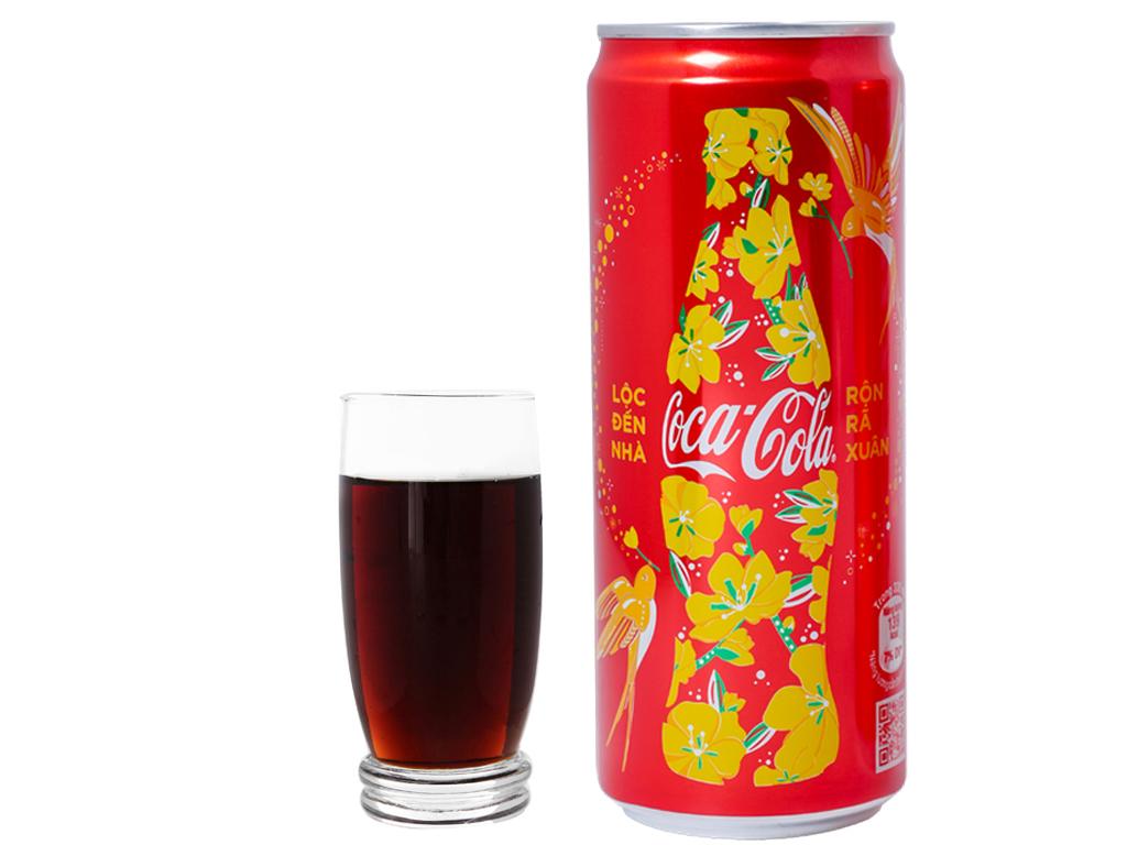 6 lon nước ngọt Coca Cola 330ml 9