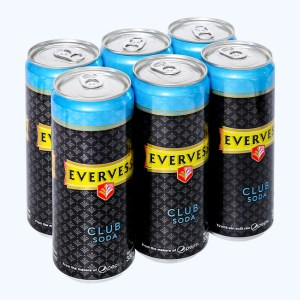 6 lon Evervess Club Soda 330ml