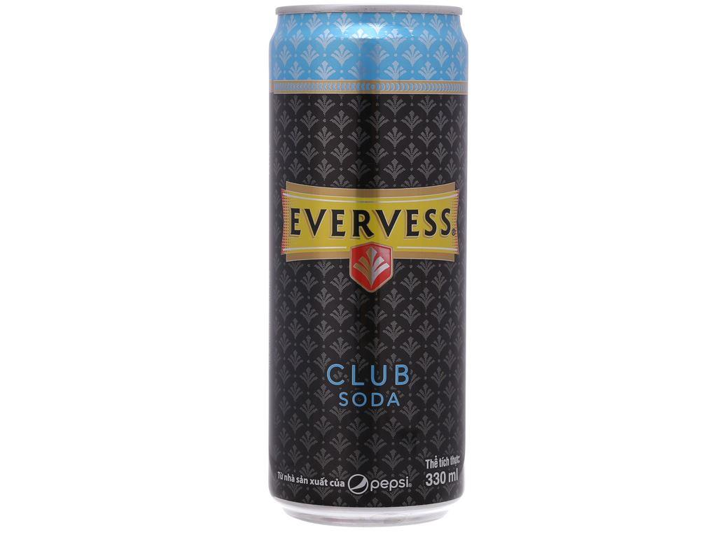 Lốc 6 lon Evervess Club Soda 330ml 3