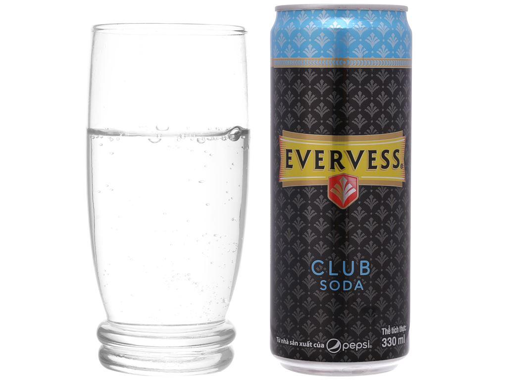 6 lon Evervess Club Soda 330ml 5
