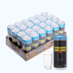 24 lon Evervess Club Soda 330ml