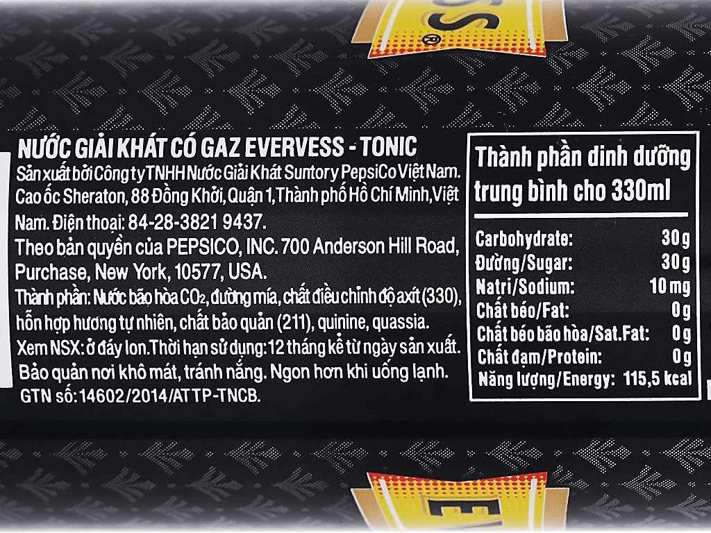 Tonic Evervess 330ml 3