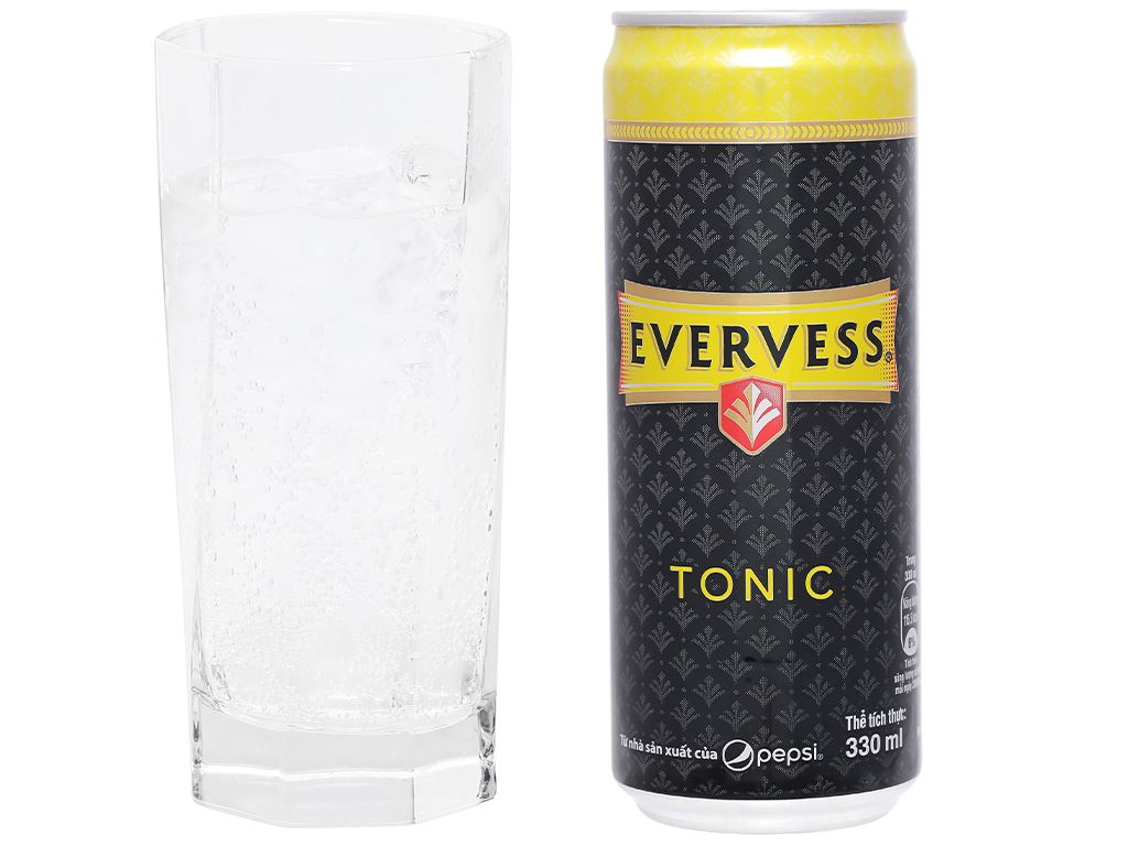 Thùng 24 lon Tonic Evervess 330ml 5