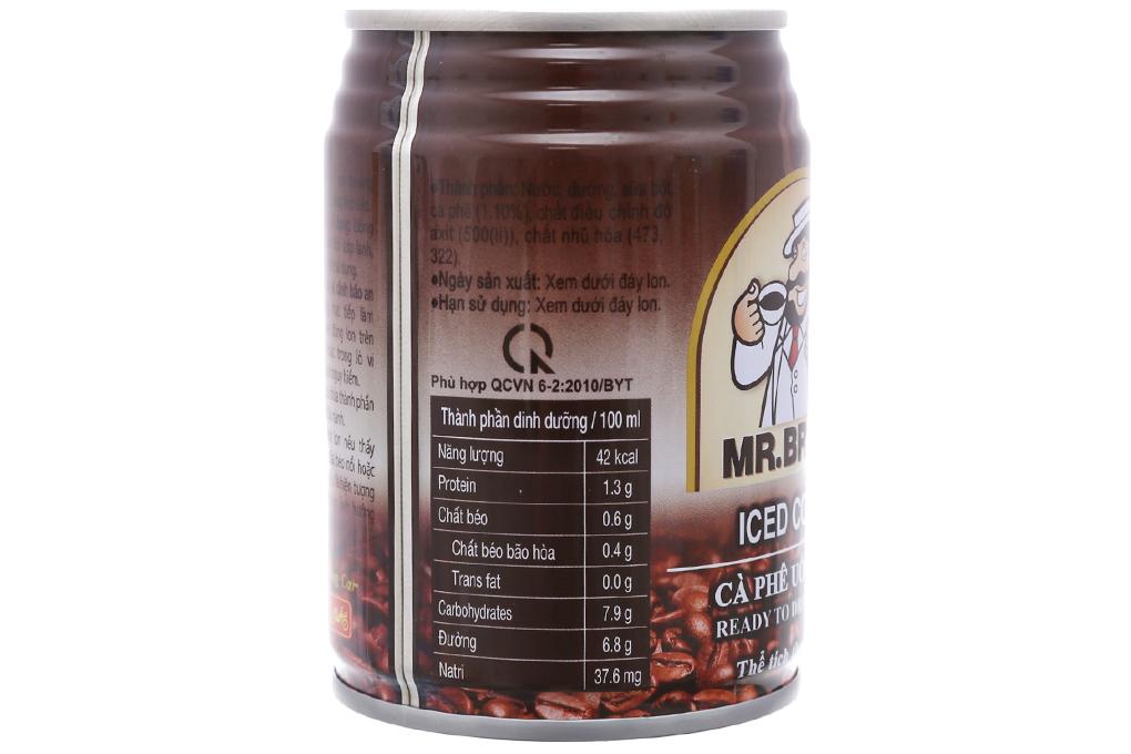 6 lon cà phê đen Mr.Brown Iced 240ml 3