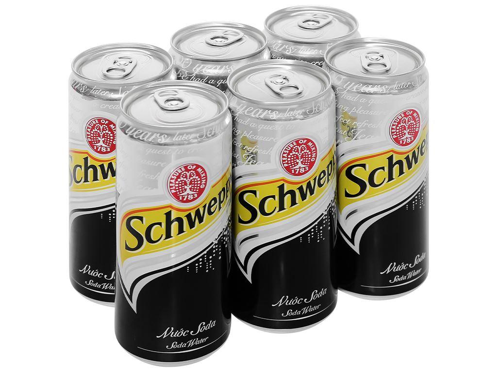 6 lon soda Schweppes 330ml 1