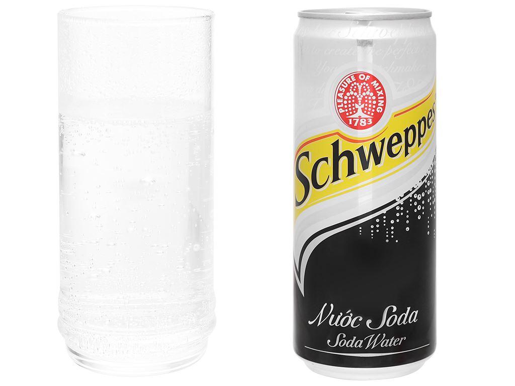 6 lon soda Schweppes 330ml 6