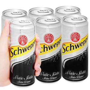 6 lon soda Schweppes 330ml