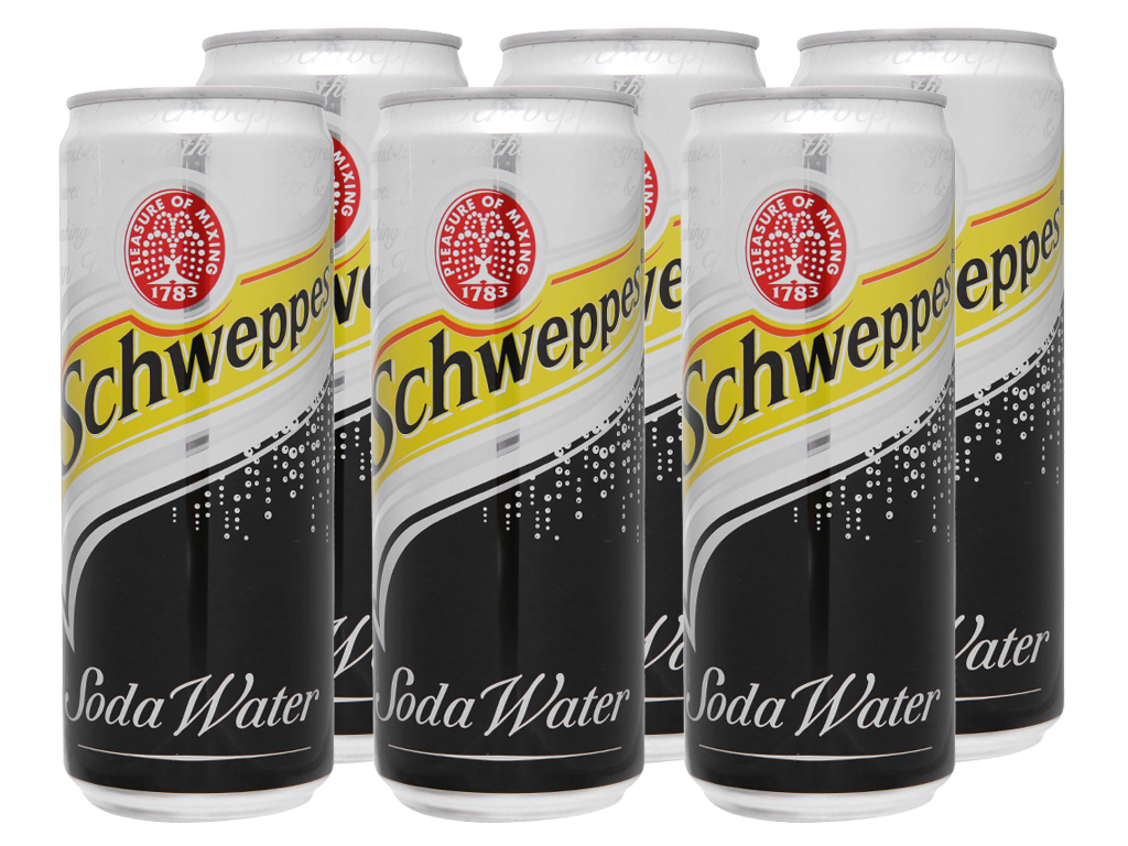 Lốc 6 lon soda Schweppes 330ml 2