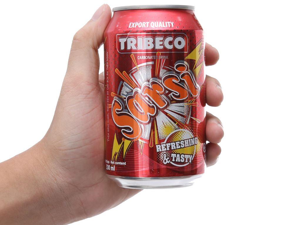 Thùng 24 lon nước ngọt Tribeco hương sá xị 330ml 4