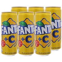 Nước ngọt Fanta +C hương Chanh lon 330ml (6 lon)
