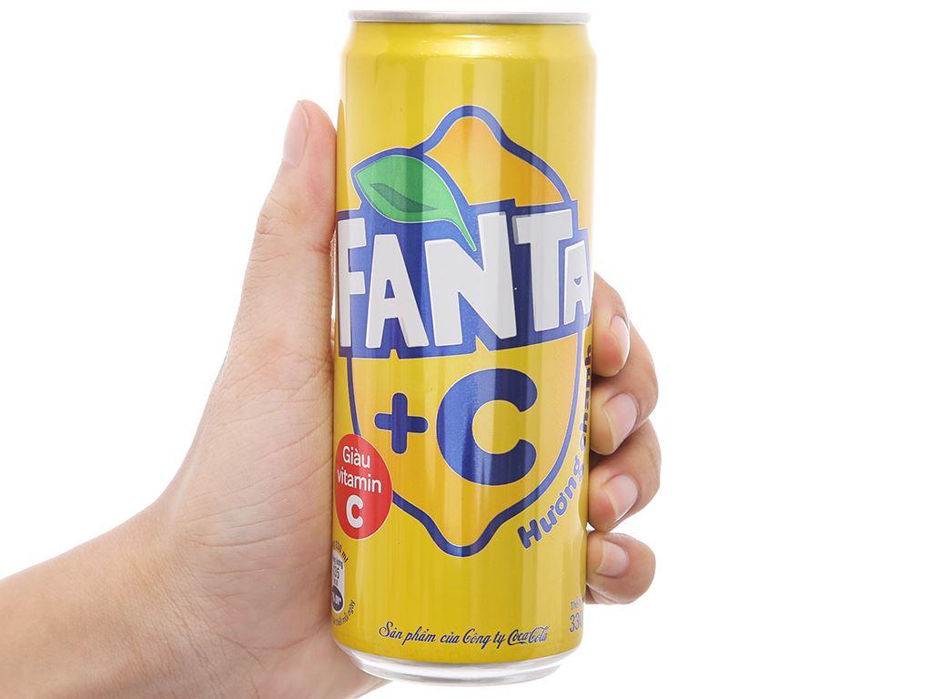 Thùng 24 lon nước ngọt Fanta vị chanh 330ml 4