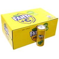Thùng nước ngọt Fanta +C hương Chanh lon 330ml (24 lon)