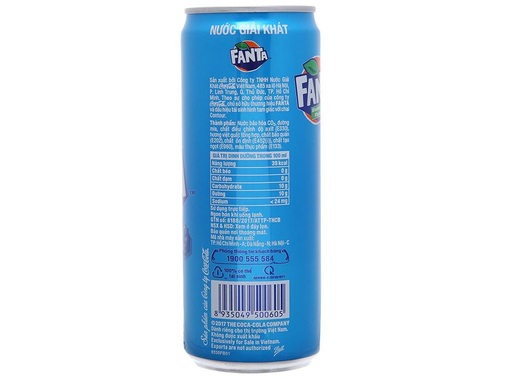 6 lon nước ngọt Fanta hương việt quất 330ml 4