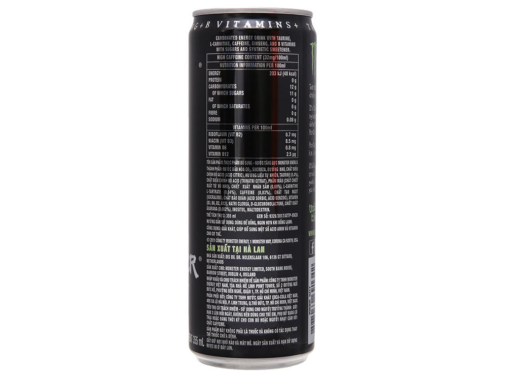 6 lon nước tăng lực Monster Energy 355ml 4