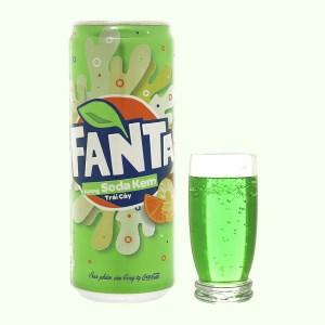 Nước ngọt Fanta hương soda kem trái cây 330ml