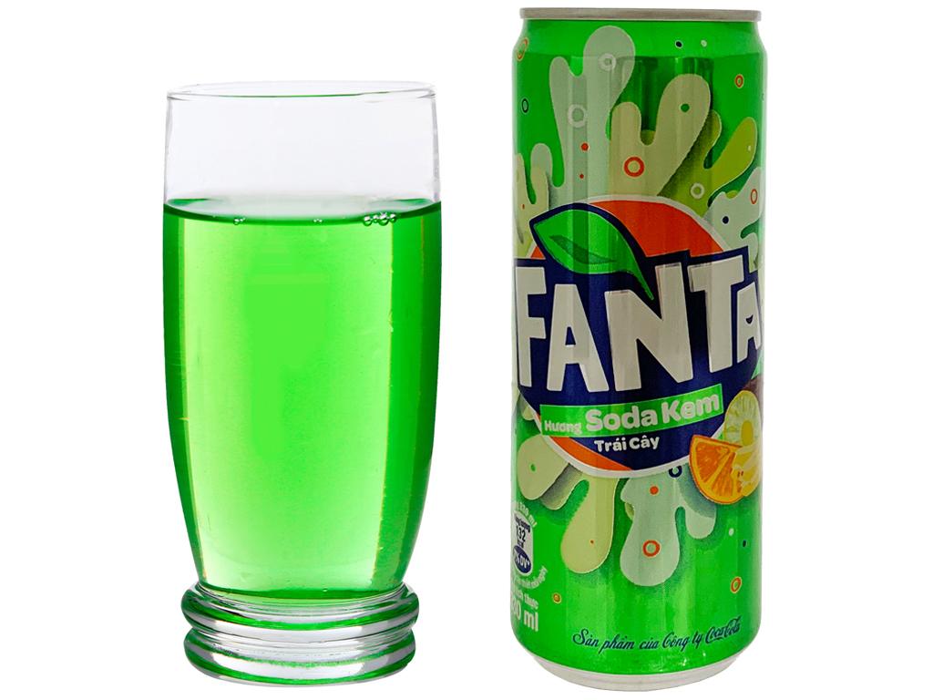 Nước ngọt Fanta vị soda kem 330ml 3