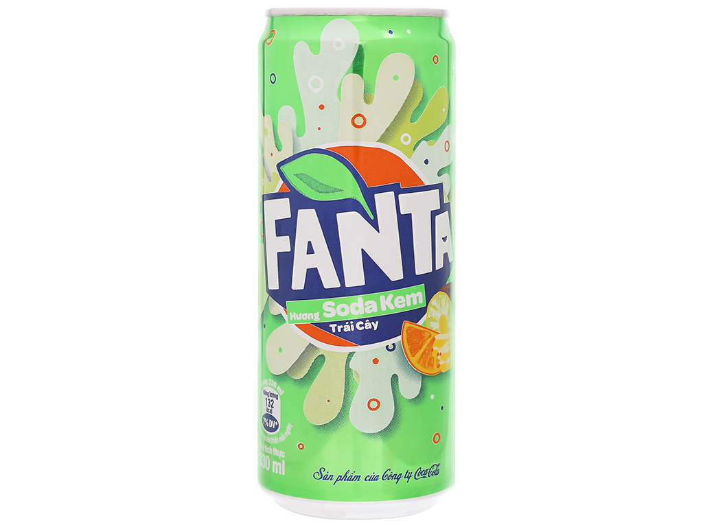 Nước ngọt Fanta hương soda kem trái cây 330ml 1