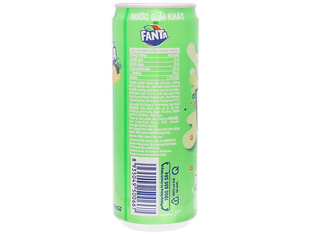 Nước ngọt Fanta hương soda kem trái cây 330ml 2
