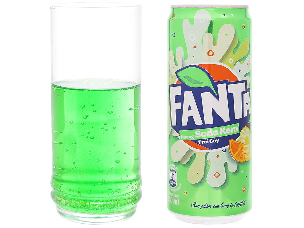 Nước ngọt Fanta hương soda kem trái cây 330ml 6