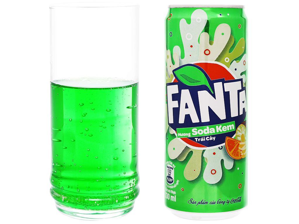 6 lon nước ngọt Fanta vị soda kem 330ml 9