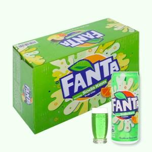 Thùng 24 lon nước ngọt Fanta hương soda kem trái cây 330ml