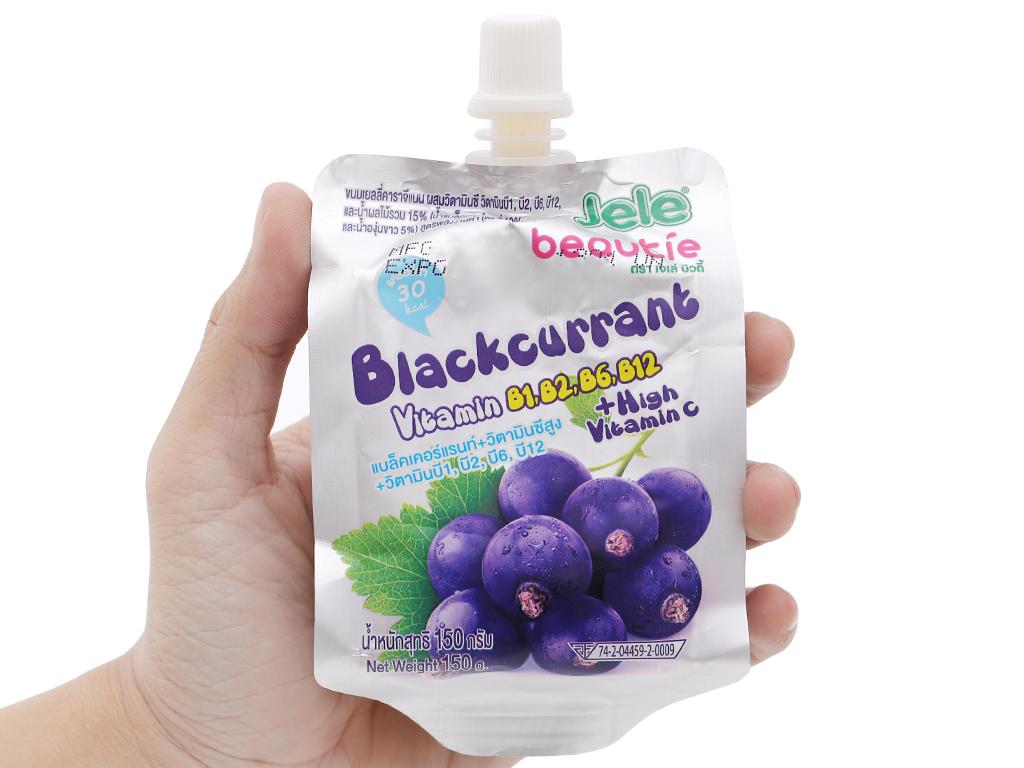 Nước ép trái cây thạch Jele Beautie Blackcurrant 150g 5