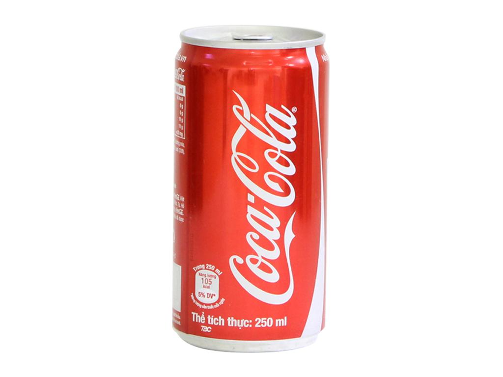 Thùng 24 lon nước ngọt Coca Cola 250ml 2