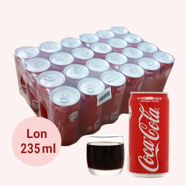 Thùng 24 lon nước ngọt Coca Cola 235ml