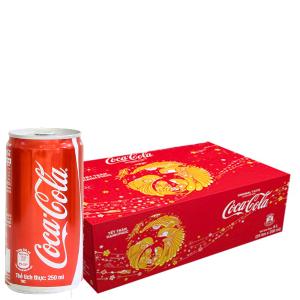 Thùng 24 lon nước ngọt Coca Cola 250ml