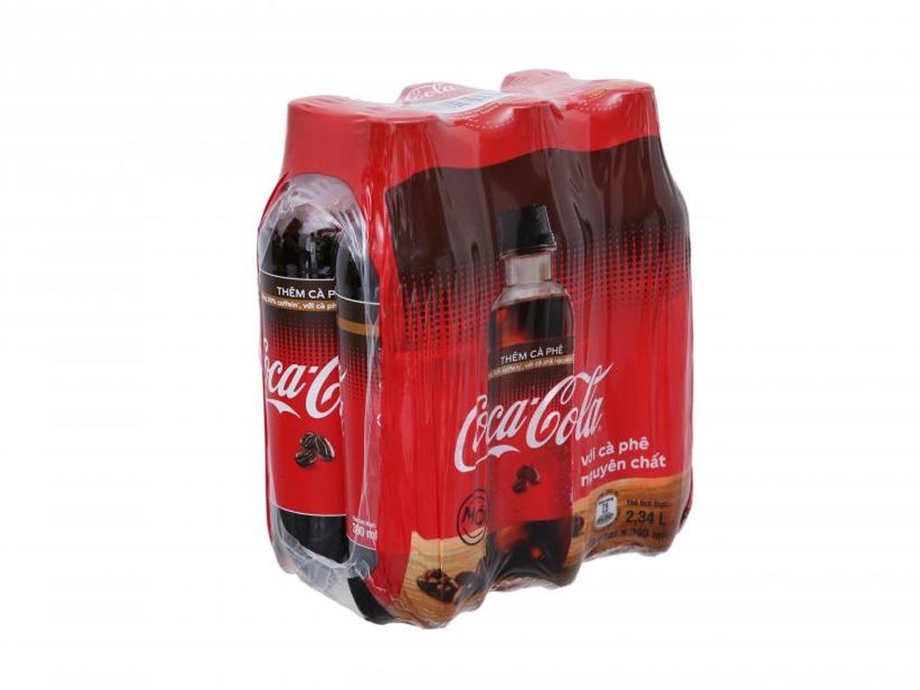 6 chai nước ngọt Coca Cola thêm cà phê 390ml 1