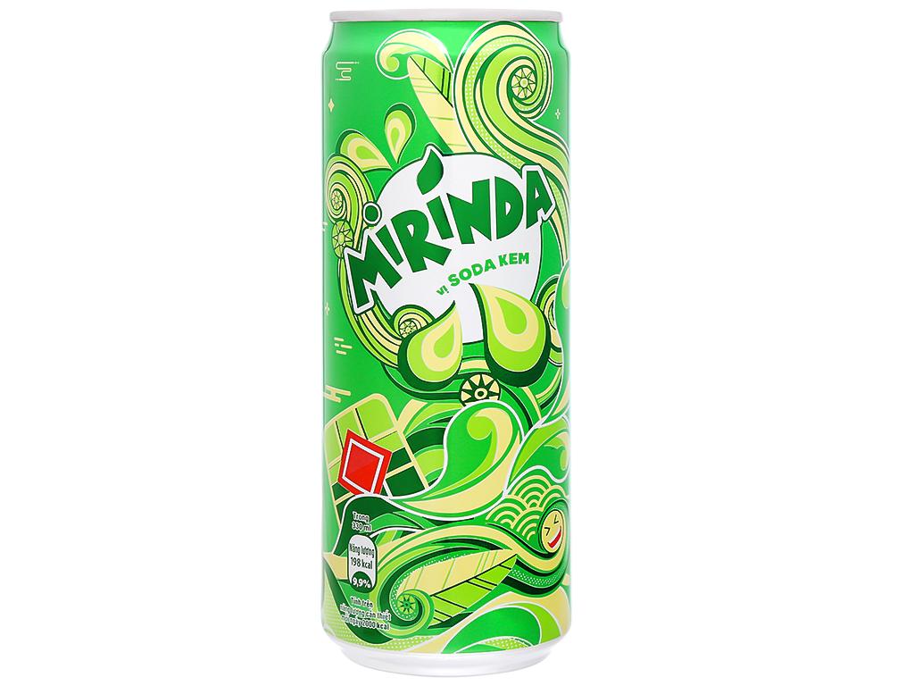 Nước ngọt Mirinda vị soda kem 330ml 6