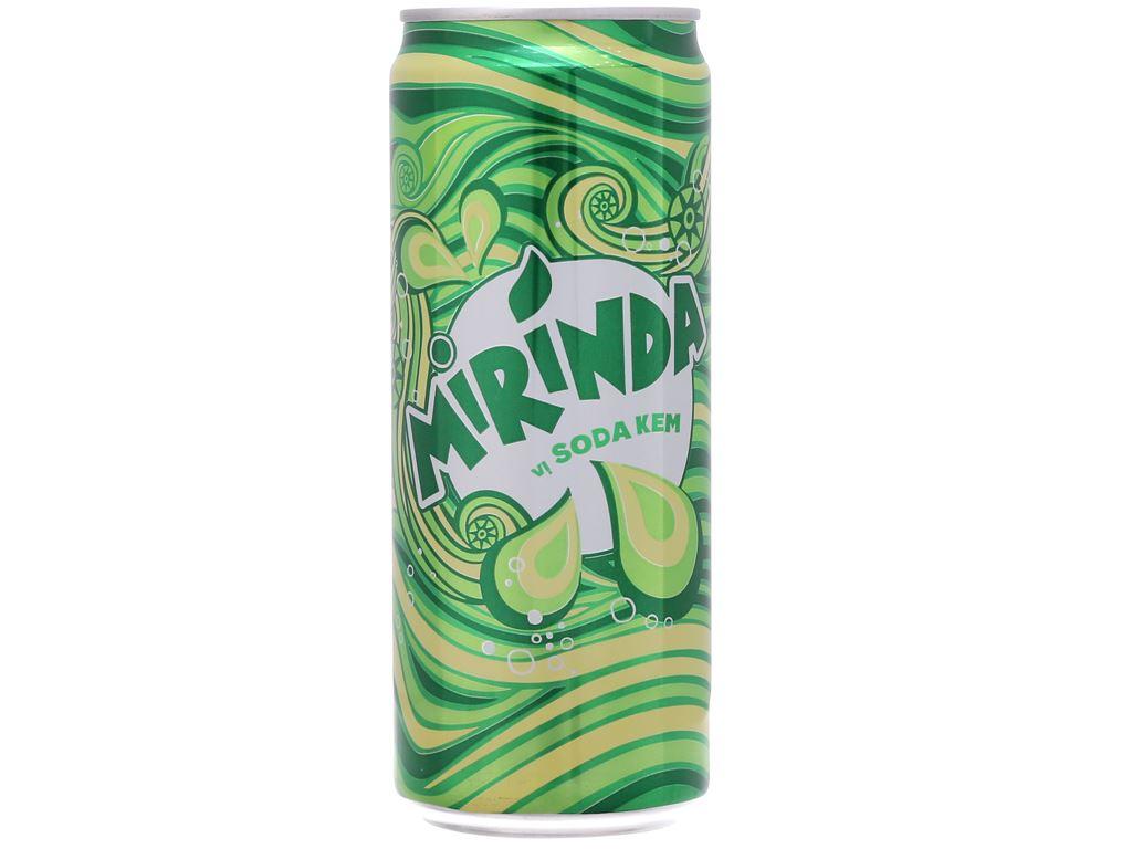 Thùng 24 lon nước ngọt Mirinda vị soda kem 330ml 2