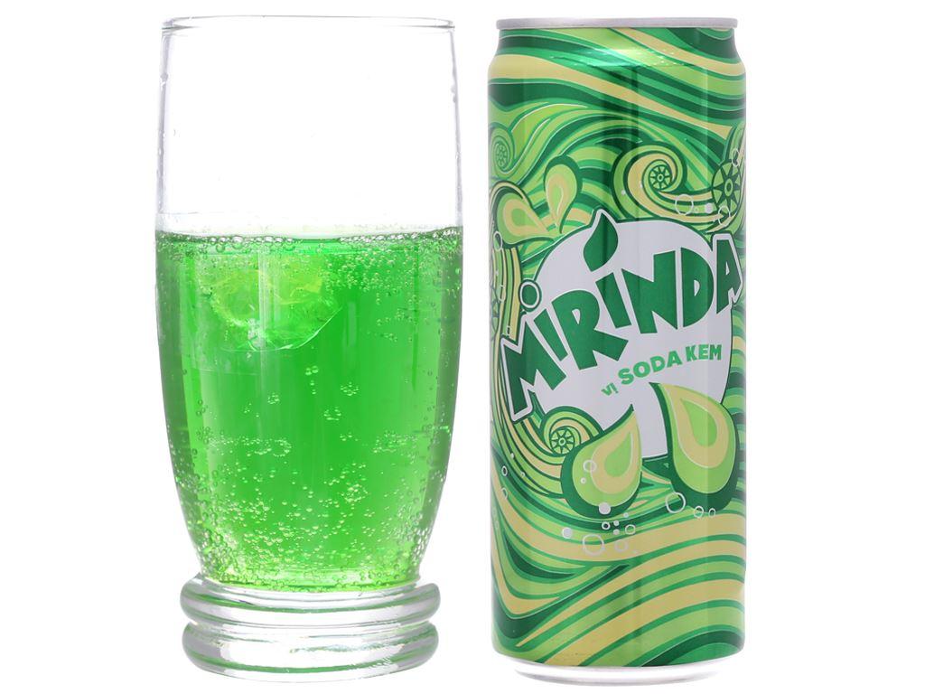 Thùng 24 lon nước ngọt Mirinda vị soda kem 330ml 4