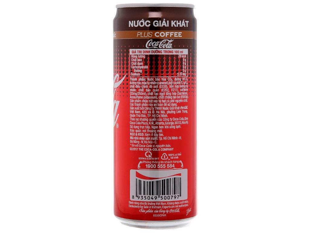 Nước ngọt Coca Cola thêm cà phê 330ml 3
