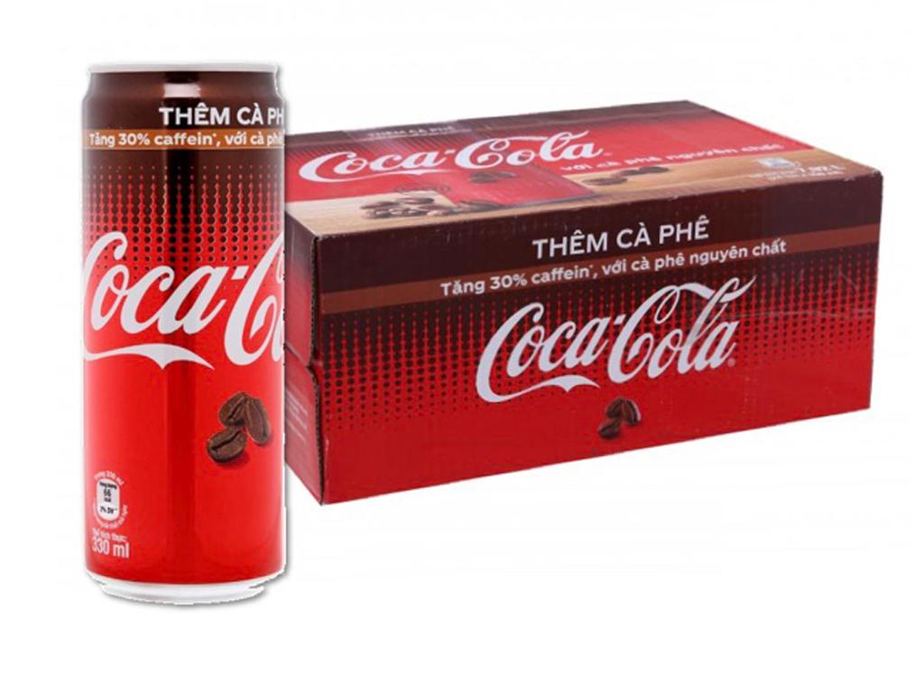 Thùng 24 lon nước ngọt Coca Cola cà phê 330ml 1