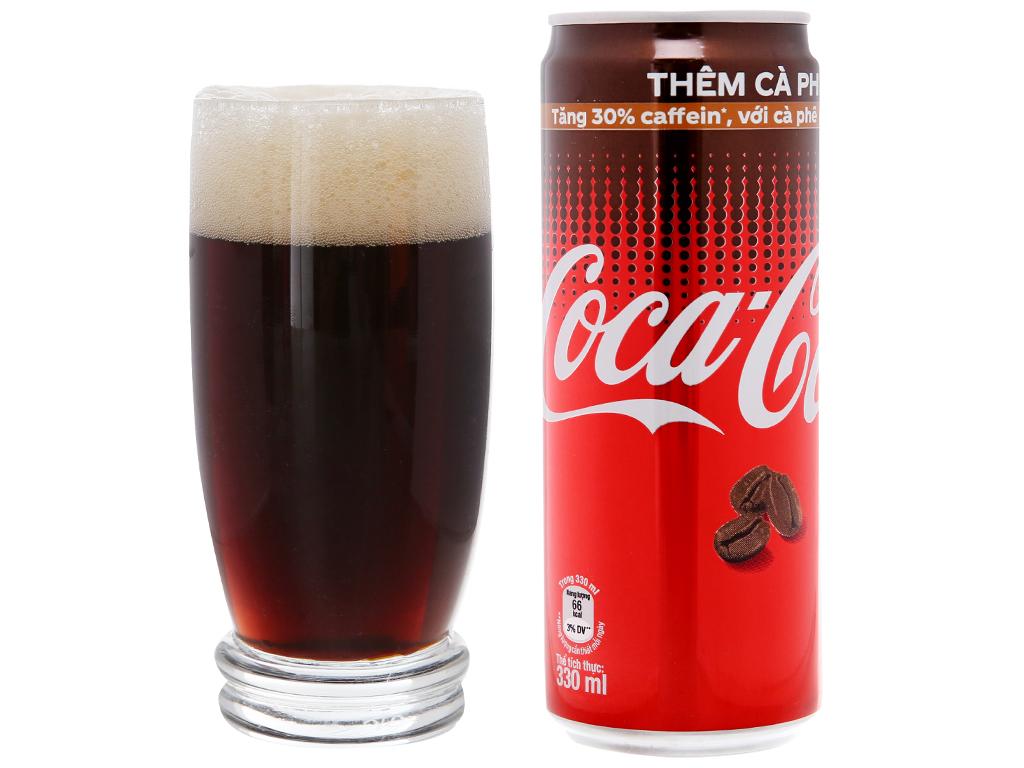Thùng 24 lon nước ngọt Coca Cola cà phê 330ml 4