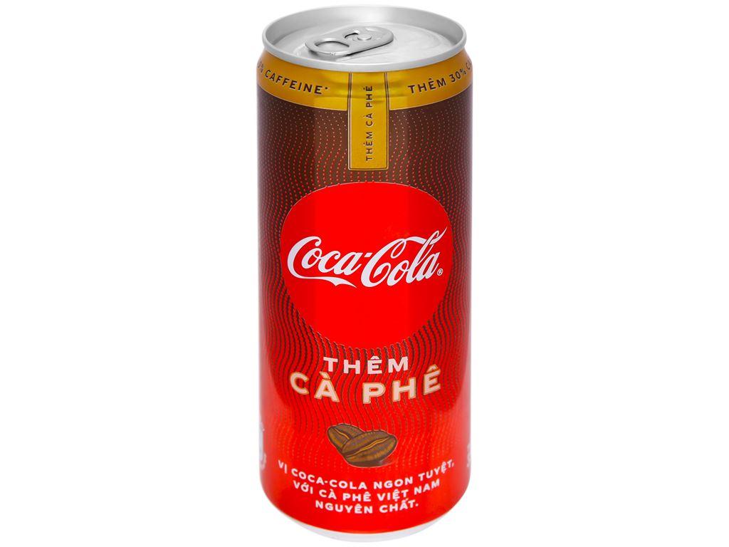 Thùng 24 lon nước ngọt Coca Cola thêm cà phê 330ml 2