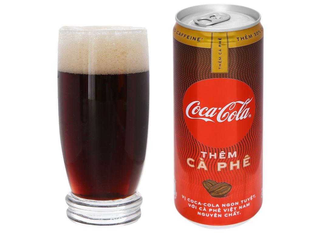 Thùng 24 lon nước ngọt Coca Cola thêm cà phê 330ml 4